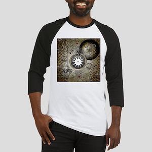 Steampunk, clocks and gears Baseball Jersey