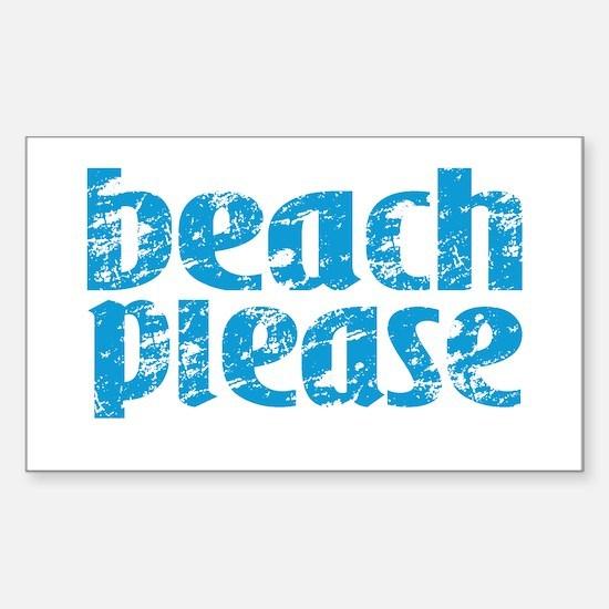 Beach Please Decal