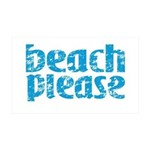 Beach Please Wall Decal
