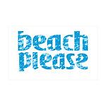 Beach Please Wall Decal