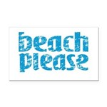Beach Please Rectangle Car Magnet