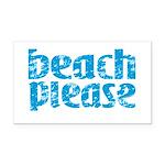 Beach Please Rectangle Car Magnet