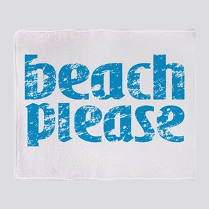 Beach Please Throw Blanket
