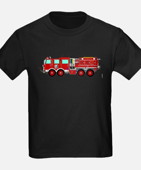 Red Brush Fire Truck T-Shirt