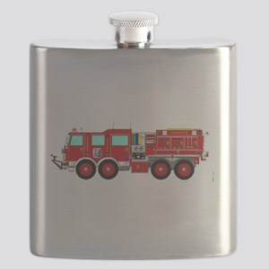 Red Brush Fire Truck Flask