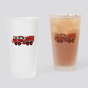 Red Brush Fire Truck Drinking Glass