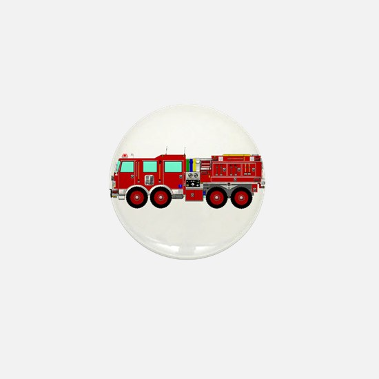 Red Brush Fire Truck Mini Button (100 pack)