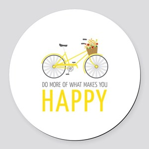 Makes You Happy Round Car Magnet