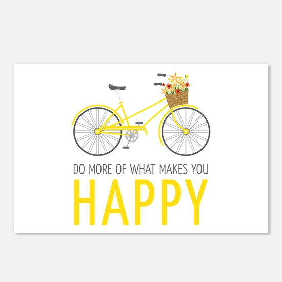 Makes You Happy Postcards (Package of 8)