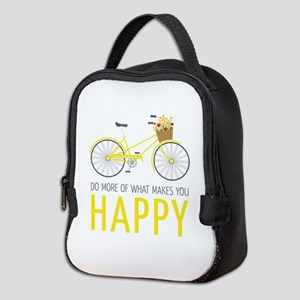 Makes You Happy Neoprene Lunch Bag