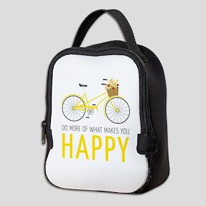 Makes You Happy Neoprene Lunch Bag