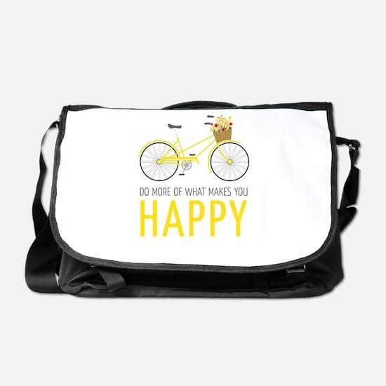 Makes You Happy Messenger Bag