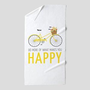 Makes You Happy Beach Towel