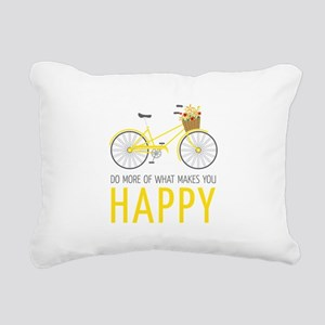Makes You Happy Rectangular Canvas Pillow