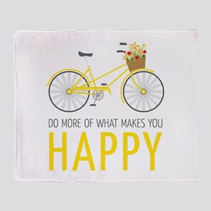 Makes You Happy Throw Blanket