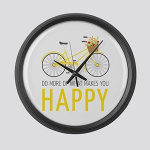 Makes You Happy Large Wall Clock