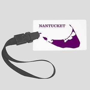 Nantucket Island - Plum Large Luggage Tag