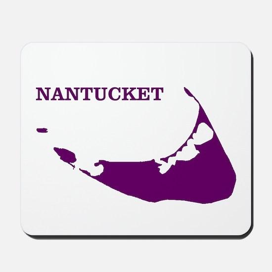 Nantucket Island - Plum Mousepad