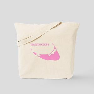 Nantucket Island - Pink Tote Bag