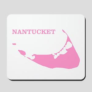 Nantucket Island - Pink Mousepad