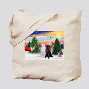 Treat/Two Poodles (ST) Tote Bag
