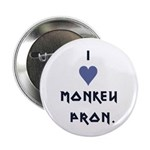 "I Heart Monkey Pron 2.25"" Button (10 pack)"