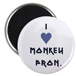 "I Heart Monkey Pron 2.25"" Magnet (10 pack)"