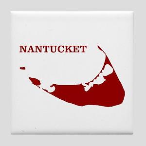 Nantucket Island - Red Tile Coaster