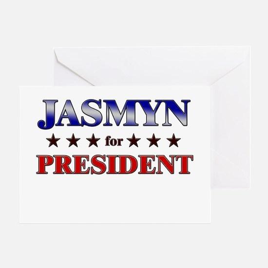 JASMYN for president Greeting Card