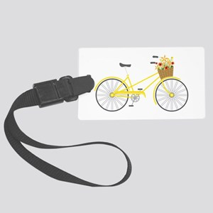 Bicycle Flowers Luggage Tag