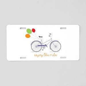 Enjoy The Ride Aluminum License Plate