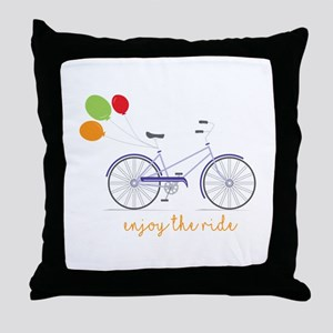 Enjoy The Ride Throw Pillow
