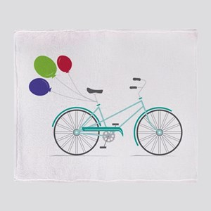 Bicycle Balloons Throw Blanket