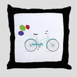 Bicycle Balloons Throw Pillow