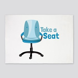Take A Seat 5'x7'Area Rug