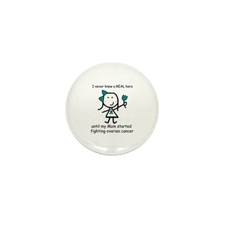 Teal Ribbon - Hero Mom Mini Button