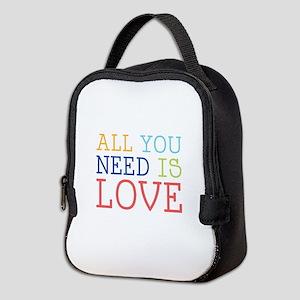 You Need Love Neoprene Lunch Bag