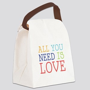 You Need Love Canvas Lunch Bag