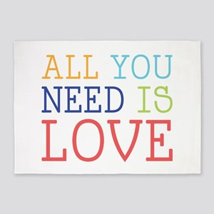 You Need Love 5'x7'Area Rug