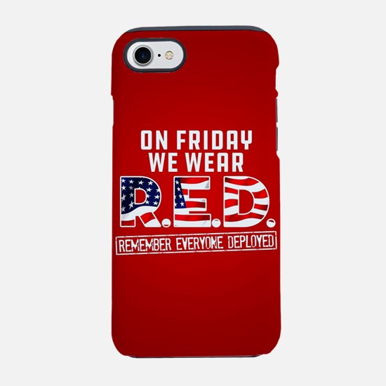 On Friday We Wear RED iPhone 8/7 Tough Case