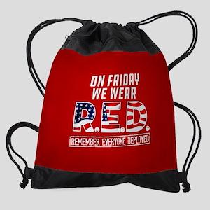 On Friday We Wear RED Drawstring Bag