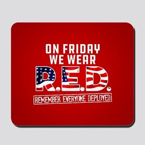 On Friday We Wear RED Mousepad