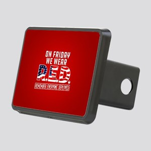 On Friday We Wear RED Rectangular Hitch Cover