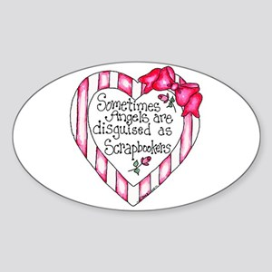 Angel Scrapbooker Sticker (Oval)