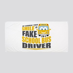 School Bus Driver Beach Towel
