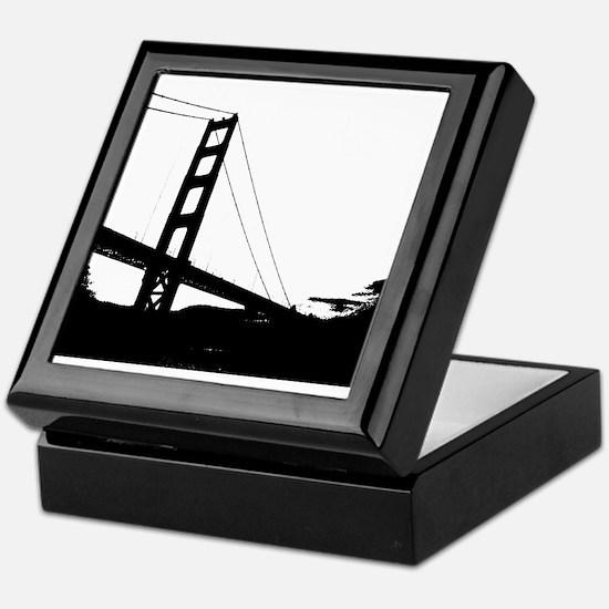 Black and White Golden Gate Bridge Sketch Keepsake