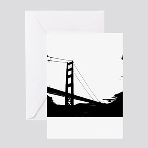 Black and White Golden Gate Bridge Sketch Greeting