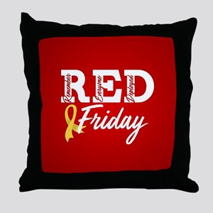On Friday We Wear RED Throw Pillow