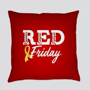 On Friday We Wear RED Everyday Pillow