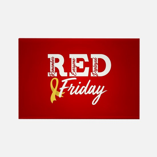 On Friday We Wear RED Rectangle Magnet